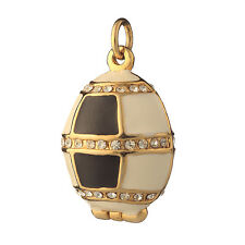 Faberge Egg Pendant / Charm with crystals 1'' (2.5 cm) #P04-01A