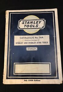 Vintage Stanley Tools Catalogue July 1936