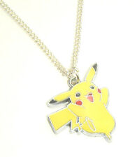 NeW STyLe PoKeMoN PiKaCHu PeNDaNT CHaRM NeCKLaCe SiLVeR ReTRo GaMeR