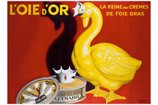 VINTAGE ART PRINT - L'OIE D'OR by Leonetto Cappiello 32x24 Poster Gold Duck