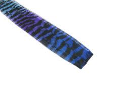 "CLIP-IN 12"" HAIR EXTENSION TRANSITIONAL ZEBRA TIGER ROYAL BLUE VIOLET AQUA EMO"