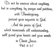 Unmounted Rubber Stamp, Christian Stamps, Bible Verses, Verse, Peace, Phil 4:6-7