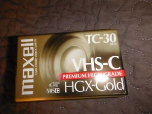 1 One Maxwell TC-30 VHS-C Premium High Grade HGX-Gold Tape Camcorder SP 30 Min