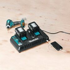 Makita Battery Charger Dual 2 Two Port Rapid 18V LXT Lithium-Ion 3.0 4.0 5.0 Ah