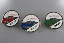 2018 Pyeongchang Winter Olympic Paralympic Games Toyota Set Of 3 Pins
