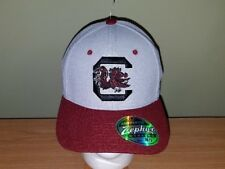 South Carolina Gamecocks Gray and Maroon NCAA Fitted M/L Hat NEW FREE SHIPPING
