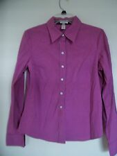 Ladies OLD NAVY Purple Perfect Fit  Long Sleeve Shirt Top Size M