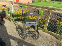 Drive Black/Grey 4 wheeler mobility walker with seat,