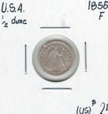 United States USA 1856 Half Dime F