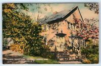 Vintage Linen Postcard Mark Twain's Home Onteora Park Tannersville NY House
