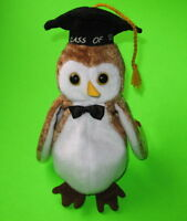 TY Beanie Baby Wisest the Graduation Owl Class of  '00 MWMT Birthday June 6 2000