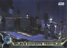 Star Wars Rogue One Series 2 Black Base Card #32 Galen's Engineers Assembled