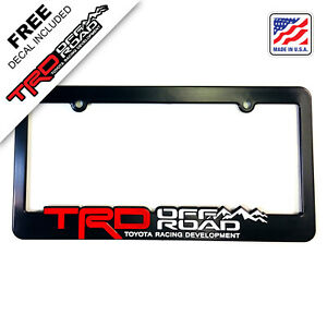 TRD-OFF-ROAD-License-Plate-Frames-Toyota-Racing-Development-Tacoma-Tundra-4Runne