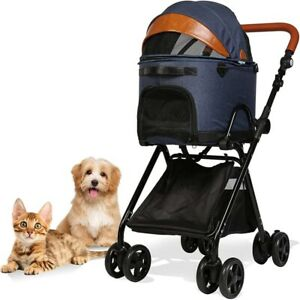 Luxury Folding Pet Stroller for Medium Dogs Cats