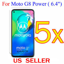 5x Clear LCD Screen Protector Guard Cover Film For Motorola Moto G8 Power (2020)