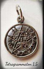 Tetragrammaton silver plata  little pentagram pagan 1,5cm wiccan Pendant YHVH