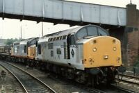 PHOTO  DMU LEADING 37507 37517 AT EAGLESCLIFFE JUNCTION 1988