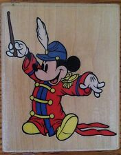 Bandleader Mickey Rubber Stampede Disney Mouse Stamp 409-E