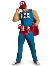 Duffman Classic Muscle Simpsons Men Costume 2xl