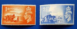 1948 GREAT BRITAIN,CHANNEL ISLANDS.ANNIV. OF LIBERATION. Scott 269/270, SG C1/C2