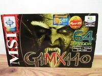 Nvidia G Force VGA G4MX440 64MB DDR Video In / TV - Out, With Games