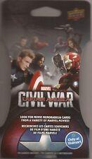 Marvel Capitán América de la guerra civil producto exclusivo de Walmart Trading Card Super Pack