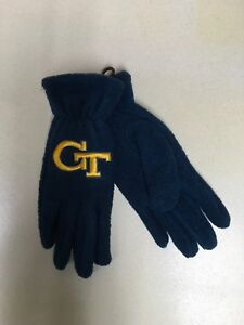 Officially Licensed Georgia Tech Yellow Jackets Ladies Lightweight Fleece Gloves