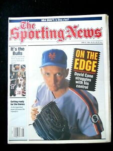 David Cone June 22,1992 Cover of The Sporting News  On The Edge