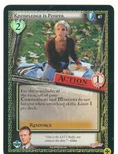 Buffy TVS CCG Limited Class Of 99 Common Foil Card #47 Knowledge Is Power