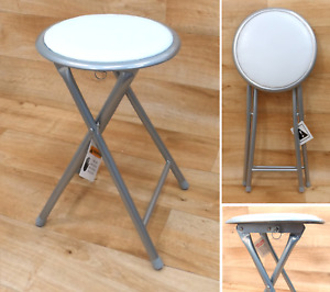 Folding Compact Padded Stool Seating Chair Breakfast Bar Stools Home Office UK