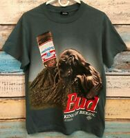"""Vintage 1995 Budweiser """"This Bud's for you"""" Ant Hill Party 2 Sided T-Shirt Sz M"""