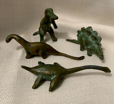 Antique Set Of 4 Collector's Miniature Cast Metal Srg Srgc 1947 Dinosaurs