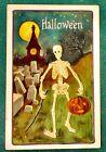 Halloween Vintage Leubri & Elkus Postcard,H.B.Griggs?, Skeleton Man