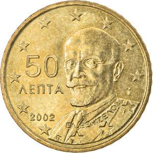 [#831058] Grèce, 50 Euro Cent, 2002, Athènes, TTB+, Laiton, KM:186