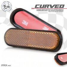 2 universal Seiten Gabel Reflektoren Katzenauge orange Motorrad Euro 4 reflector