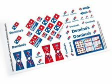 CUSTOM STICKERS for Domino's Pizza Restaurant, Lego Builds Etc( Lego 3438 size)