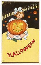Halloween Child Holding Happy JOL