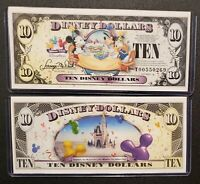 5type Disney America 1 million Dollar Daisy Duck Minnie MINT Magic Gold Banknote
