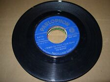 """BEATLES i want to hold hand / ps i love you ( rock ) 7"""" / 45 - parlophon italy"""