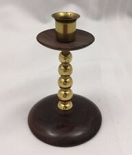 SOLID WOODEN 1 IN CANDLE HOLDER W/ FELT BOTTOM-BEREA COLLEGE STUDENT INDUSTRIES