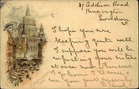 London England AK 1900 St. Pauls Cathedral Kathedrale gelaufen nach Helensburgh
