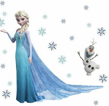 Frozen Queen Elsa Olaf children Nursery Wall Sticker Decal Decor Large Kids art