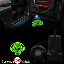 2x Car Door Music Skull Logo Courtesy LED Laser Projector Ghost Shadow Light