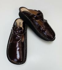Alegria Shoes Sandals Slides Patent Leather Brown Size US 9.5-10  / EUR 40