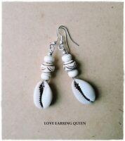 Cowrie Shell Cowry Shell African Dangle Earrings