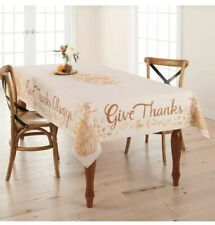 Celebrate Fall Together 'Give Thanks Always' 60x102 Obl Thanksgiving Tablecloth