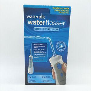 NEW WATERPIK WATERFLOSSER CORDLESS PLUS WP-460W w/ 6 TIPS Water Flosser