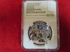 2013 $10 Cook Islands Silver Hunting Mouflon coin moose NGC PF69 icg anacs pcgs