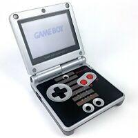 Nintendo Gameboy Advance SP AGS-101 Retro NES Classic w/ Brighter Backlit Screen