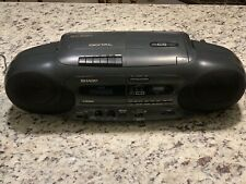 Vintage Sharp QT-CD7 Radio CD Player Cassette Recorder Digital Stereo Boombox